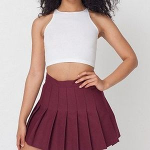 American Apparel Crimson Tennis Skirt